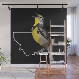 Montana – Western Meadowlark (Black) Wall Mural