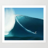 surfing Art Prints featuring Surfing by TuesdaeButler