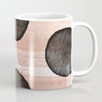 rose gold Mugs featuring rose gold #2 by LEEMO