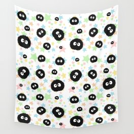Soot Sprite with stars Wall Tapestry