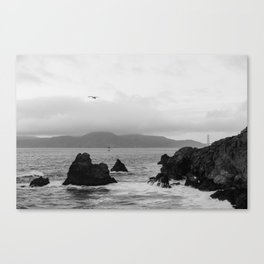 View of the Golden Gate Bridge from Sutro Baths Canvas Print