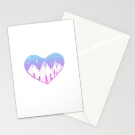 Heart In The Mountains - Pastel Palette Stationery Cards
