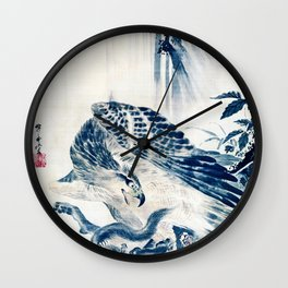 Eagle Attacking a Mountain Lion Wall Clock