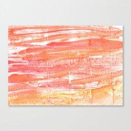 Vivid tangerine abstract watercolor Canvas Print