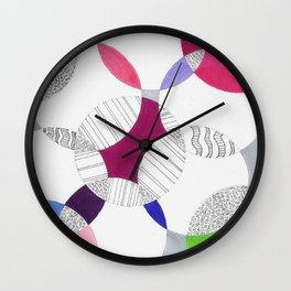 Chicken Scratch Wall Clock
