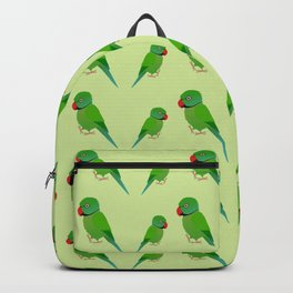Cute Indian ringneck parakeet Backpack