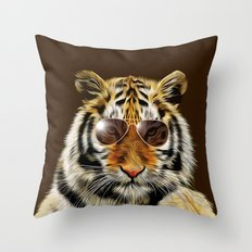 In the Eye of the Tiger Throw Pillow