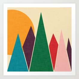 solar mountain #homedecor #midcentury Art Print