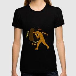 Boxer Hitting Punching Bag Drawing T-shirt