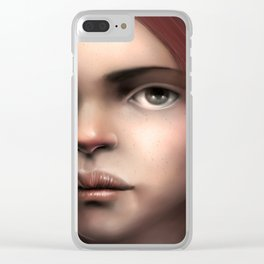 Portrait of a lady Clear iPhone Case