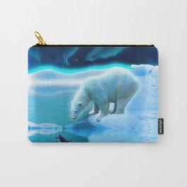 The Encounter - A Polar Bear & Penguin Fantasy Carry-All Pouch