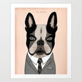 Mad Men Dogs: Dog Draper Art Print