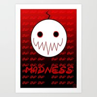 cryaotic Art Prints featuring Cryaotic - Madness by PyroSomniac