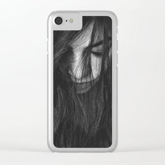 Dark Girl Clear iPhone Case