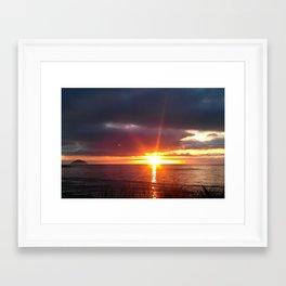 let there be light. Framed Art Print