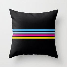 80's Love Retro Stripes Throw Pillow