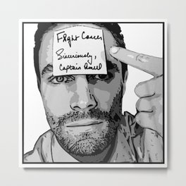 Stephen Amell for F&CK Cancer Metal Print