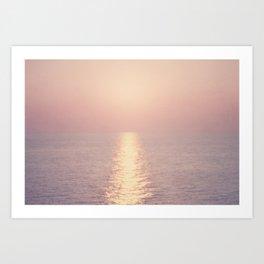 cashmere rose sunset Art Print