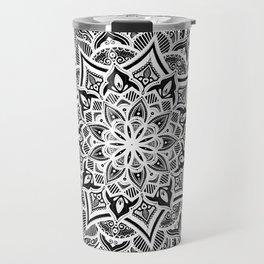 Black mndala for fun Travel Mug