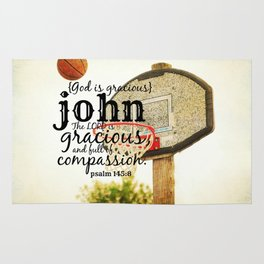 John God is gracious Rug