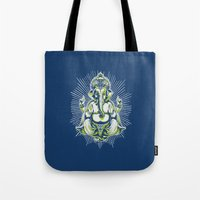 ganesh Tote Bags featuring Ganesh by Scalifornian