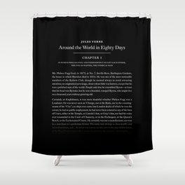 Around the world in 80 days Shower Curtain