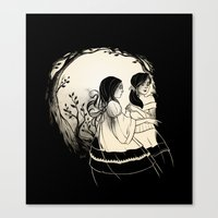 sisters Canvas Prints featuring Sisters by Karl Kwasny