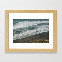 Waves on the Beach Framed Art Print