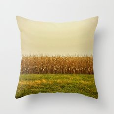 Corn Lines Throw Pillow