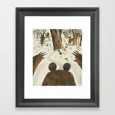 Along Came A Bear Framed Art Print