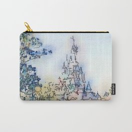 Fairy-tale Castle Watercolor Carry-All Pouch