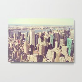 TO NEW YORK CITY APPLES Metal Print