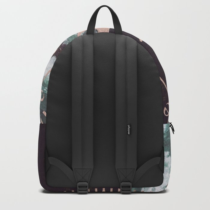 Rose Gold River Compass Backpack
