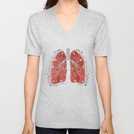 folky lungs Unisex V-Neck