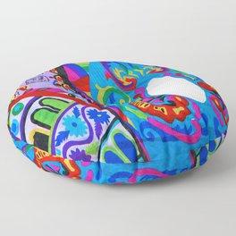 Up close - Guatemalan Kites Floor Pillow