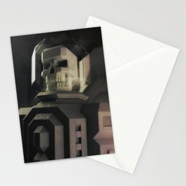 Necronaut low-polygon 3D artwork Stationery Cards
