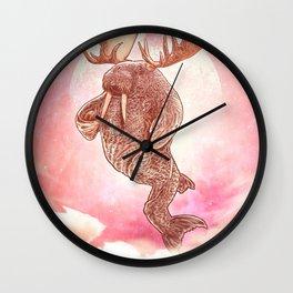 Space Walrus on Moon Patrol Wall Clock