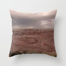 Desert Rain Clouds Throw Pillow