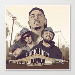 Black Hippys Canvas Print