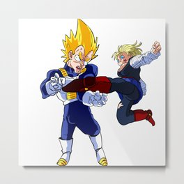 Vegeta Lost Metal Print