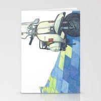 vespa Stationery Cards featuring vespa by Miyuki Sakurai