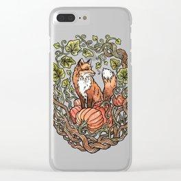 Autumn Fox Clear iPhone Case