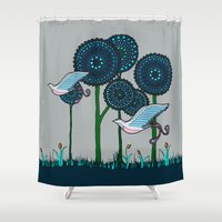phoenix Shower Curtains featuring Phoenix by Evi Radauscher
