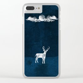 Midnight Wanderer Clear iPhone Case