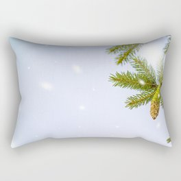 New Year's and Christmas. Christmas background with fir trees Rectangular Pillow