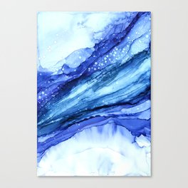 Cracked Blue Marble Canvas Print