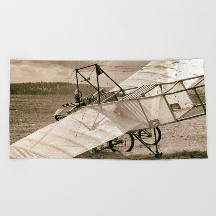 Old Airplane Beach Towel