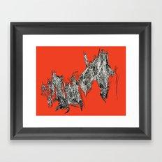 Waterfall in Red Framed Art Print