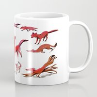 foxes Mugs featuring Foxes by Kit Seaton