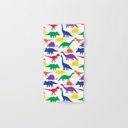 Dinosaurs - White Hand & Bath Towel